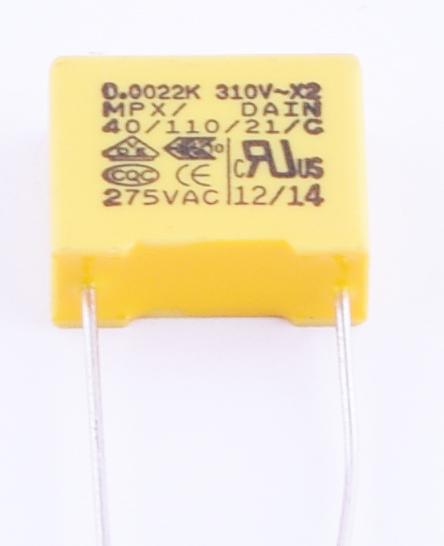 MPX 2,2nF 310V K(+/-10%), P=10mm; 5x11x13mm (MPX222K310ACP3-DAIN) (конденсатор пленочный) Dain From 0.08 $ - РАДИОМАГ РКС КОМПОНЕНТЫ